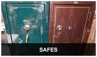 image of 2 large floor safes