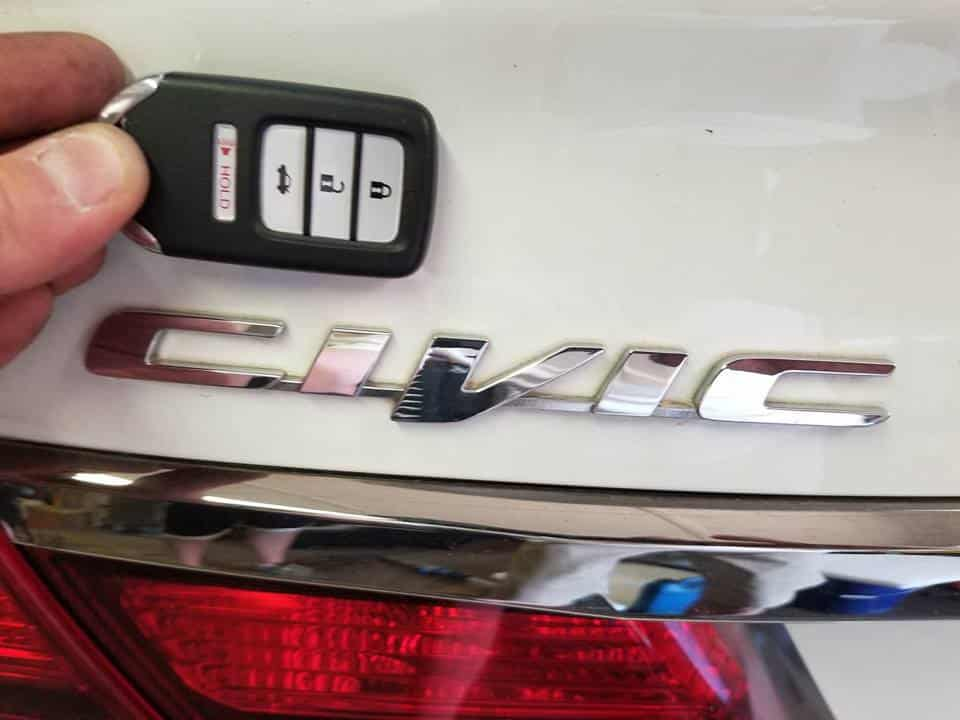 We programmed a new push to start proximity remote for a 2015 Honda Civic in Talmo,Ga.